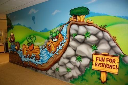 Nursery School Wall Painting Artist