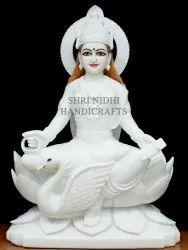 White Marble Gayatri Statue
