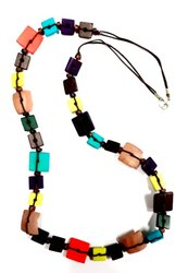 Kavita Fashions Long Chain Multi Color Bone & Shell Necklace