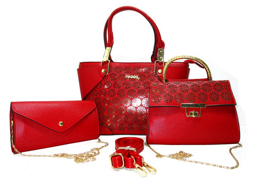 848e3890b4fc Red Leather FOSSIL New Designer Combo Hand Bag