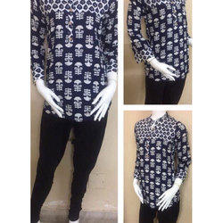Cotton Full Sleeve Short Length Kurti