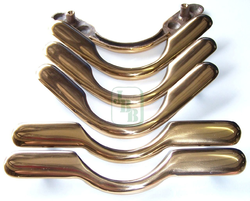 JBB Pool Table Pocket Brass Rounded Set