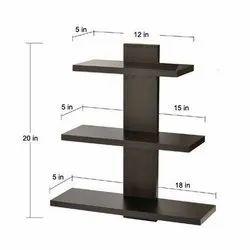 Black MDF Wooden Shelf, Size: 18x5x20 Inch