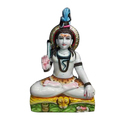 Shiv Polished Marble Statue
