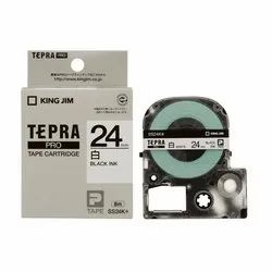 Tepra Label Tape SS24KW Pro Cartridge 24mm Black on White