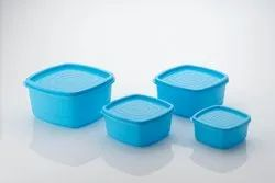 Plastic Edible Square Container (4 Pcs. Set), for Food