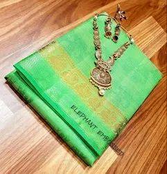 Embossed Tussar silk saree
