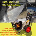 11 lpm 200 Bar Three Phase High Pressure Washer