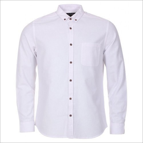 f0b3481879a Cotton Mens Plain White Shirt