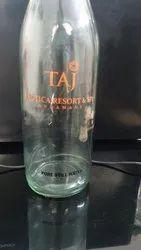 Square Milk Glass Bottle