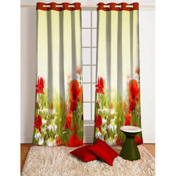Floral Printed Fancy Curtain, For Window