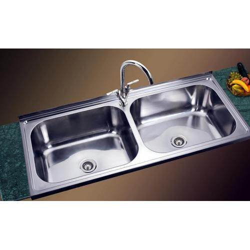 Jindal Stainless Steel Double Bowl Kitchen Sink Shape Rectangular Rs 8000 Piece Id 15363270848