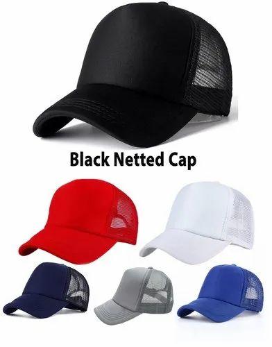 8e33e22c Netted Black Mesh Cap, Size: Free, Rs 60 /piece, Alamdar ...