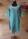 Ladies Plain Blue Kurti