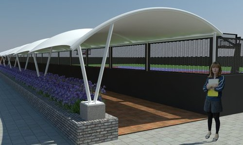 Tensile Fabric Structures and Canopy & Tensile Fabric Structures And Canopy at Rs 450 /square feet ...