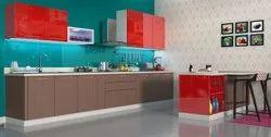 Island Laminate & PU Modular Kitchen