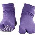 Ladies Split Toe Lavender Nofall Socks
