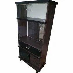 Wooden Corner TV Stand With Storage
