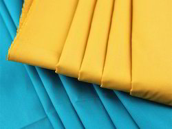 Cotton Yellow Color Poplin Fabrics