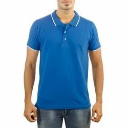 Turquoise Blue Mens Collar T-shirts