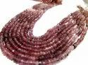 Natural Pink Tourmaline Shaded Color Size 3-4mm Rondelle Beads Strand 13 Inches.