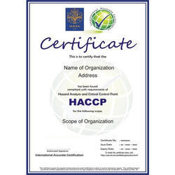 HACCP Certification Consultancy Service