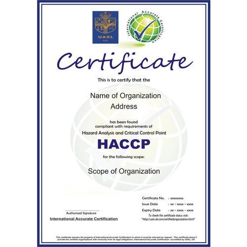 Other Certification Services - HACCP Certification and