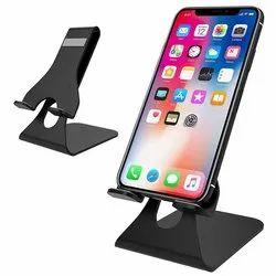 Clip Type Black Anodized Aluminium Mobile Phone Stand Holder