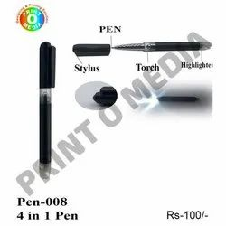 Plastic 4 in 1 Pen for Writing