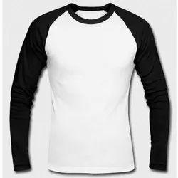 Cotton Men Full Sleeves Plain T Shirt
