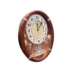 Oval Marble Finish Wall Clock