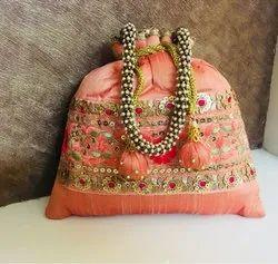Raw Silk Designer Potli Bag
