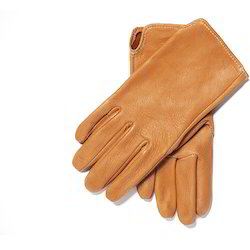 Brown Leather Hand Gloves