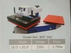 BHARATH Double bed Heat Press Machine, Printing To Be Done On: T-Shirt, Display Size: 45x45mm
