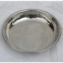 Stainless Steel Halwa Plate