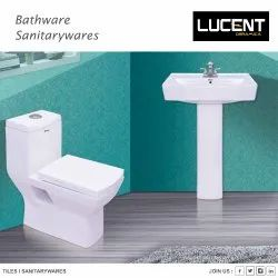LUCENT White ONE PIECE TOILET SEAT, For Bathroom Fitting, Dimension: 62x37x72 Cm