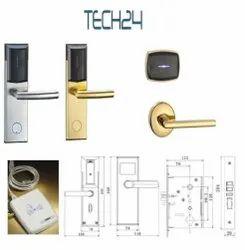 Tech24 Hotel RFID Door Locks, Stainless Steel