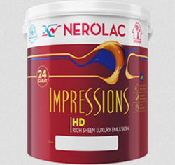 Nerolac Impressions 24 Carat Paint, Packaging Type: Bucket