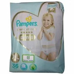 Cotton Pampers Premium Care Diapers Pants, Age Group: 1-2 Years, Packaging Size: 36 Pads