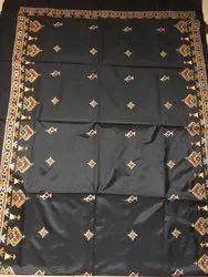 Kasuti Work Semi Silk Art Silk Handwoven Kasuti Embroidered Saree With Blouse Piece