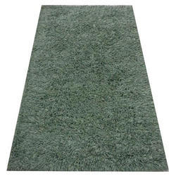 Green Plain Modern Shaggy Carpet