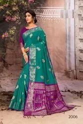 Tussar Silk Weaving Saree with Blouse Piece