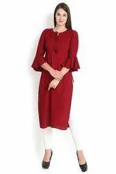 Bell Sleeves Women's Rayon Kurti