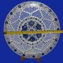 Alabaster Marble Inlay Round Plate