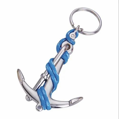 Zinc Alloy Anchor Marine Key Chain For Gift