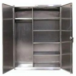 Double Door Polished Stainless Steel Cupboards