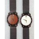 Crony Men Black Tone Chain Wrist Watch