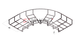 Horizontal Bend For Wiremesh Cable Tray