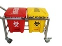 WASTE SEGREGATION TROLLEY 16 LTR TWO BIN