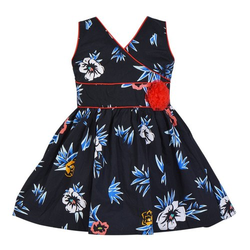 WFF V Shape Cotton Printed Baby Dress